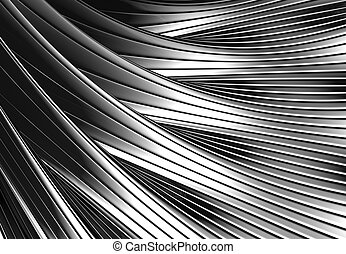 Silver metal shiny abstract 3d background illustration