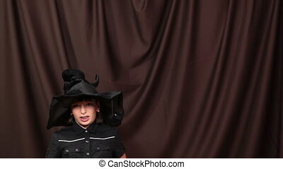 Scare me! - Mother and daughter are having fun at Halloween,...