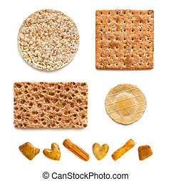 Crackers Collection over White