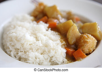 Japanese Curry , Beef Curry with Rice