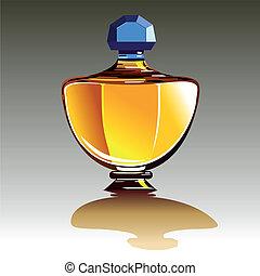 Perfume bottle - Glass perfume or eau de toilette bottle...