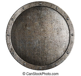 古い, ラウンド, 金属, 中世, 保護