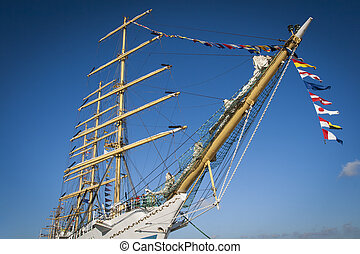 Tall ship - Tall Ship at the sea fest in Ilhavo City -...