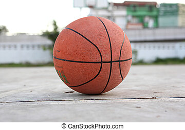 Basketball ball on street