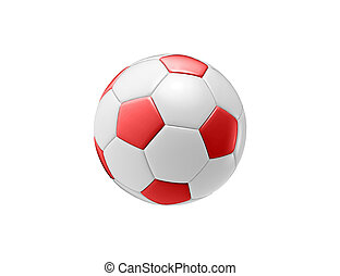 red football ball