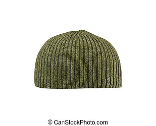 Dark green hat isolated on white