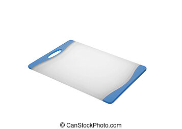 Plastic cutting board isolated