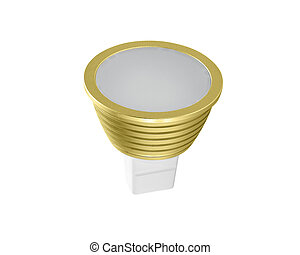 LED energy saving bulb. Light-emitting diode.