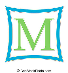 M Monogram Blue & Green - Monogram Blue & Green