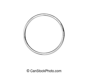Metal hoop isolated on white