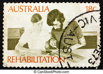 Postage stamp Australia 1972 Rehabilitation of the Handicapped