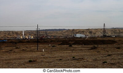 oilfield 2 - an oil field in kelamayi, xinjiang, china.