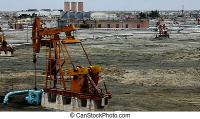 oilfield 3 - an oil field in kelamayi, xinjiang, china