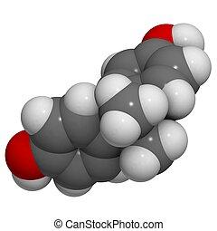 bisphenol A BPA molecule - chemical structure - A molecule...