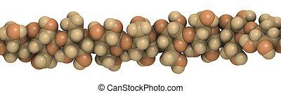 celulosa, -, químico, estructura
