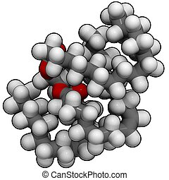 triglyceride (animal fat) - chemical structure