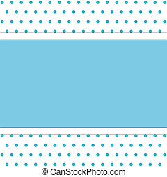 polka dot background - frame on polka dot background