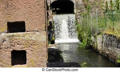 old hammer mill in Jaegerthal, Alsace, France