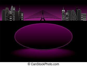 night city silhouette