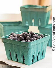 Fresh Picked Blueberries - A container full of fresh picked...