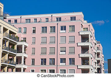 New pink townhouse - A new pink townhouse seen in Berlin