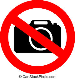 No photo camera sign - No photo camera vector sign