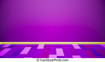 Purple stage - Empty purple room with pulsating colors