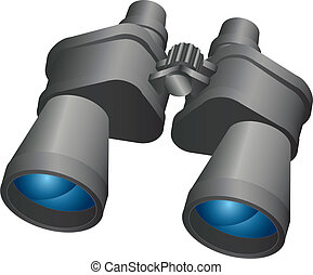 Binoculars,vector design,icon on a white background