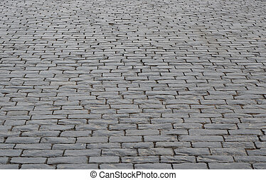 Cobblestone. - The area paved by stones. Cobblestone. Way.
