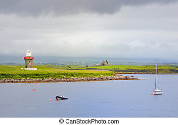 lighthouse, Rosses Point, County Sligo in Ireland