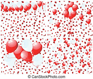 Set of balloons background
