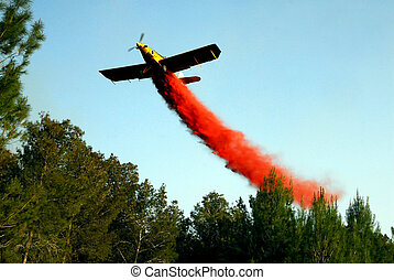 Aerial firefighting - KIRYAT GAT - APRIL 23: A sky...