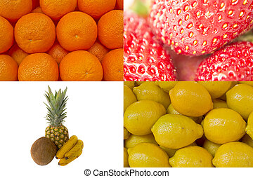 collage of various fruit background