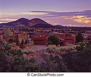 Santa Fe Glow - The Alpine Glow on the Atalaya Mountains in...