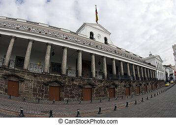 national palace on plaza grande quito ecuador - presidential...