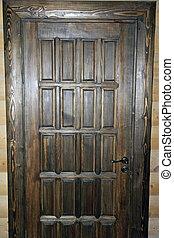 Brown door - A brown wooden door made by hand