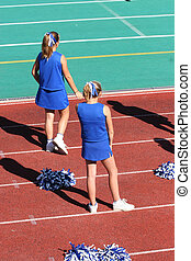 Cheerleaders Watching