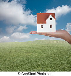 Sell a house - Concept of building and selling homes