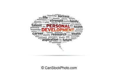 Personal Development - Animated rotating Personal...