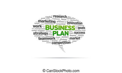 Business Plan - Animated rotating Business Plan Speech...