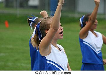 Cheerleader Cheering 3 - Youth Teen Cheerleader Cheering at...