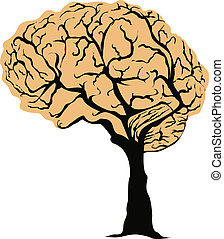 Brain Tree - vector illustration of a brain tree