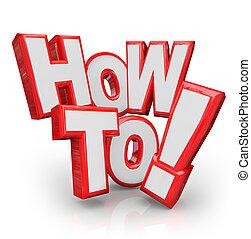 come, a, parole, consiglio, istruzioni, risolvere, problema