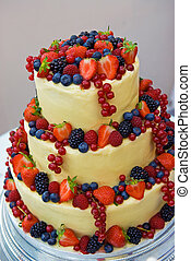 Fruity Wedding cake. - Best in colour homemade wedding...
