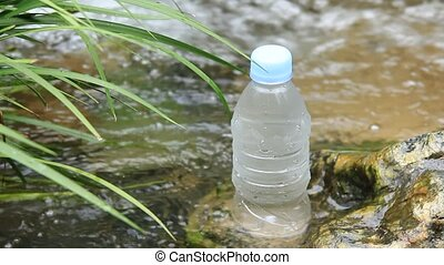 mineral water - I took mineral water in a clear stream.