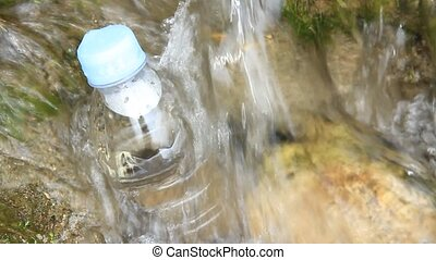 mineral water - I took mineral water in a clear stream