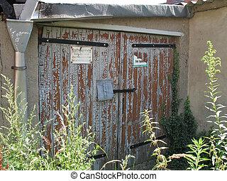 Garage - A derelict garage in Mecklenburg-Western Pomerania,...
