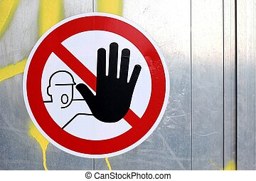 dont touch sign