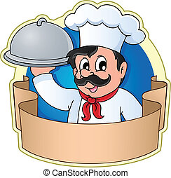 Chef theme image 5 - vector illustration.
