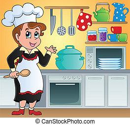 Kitchen theme image 6 - vector illustration.